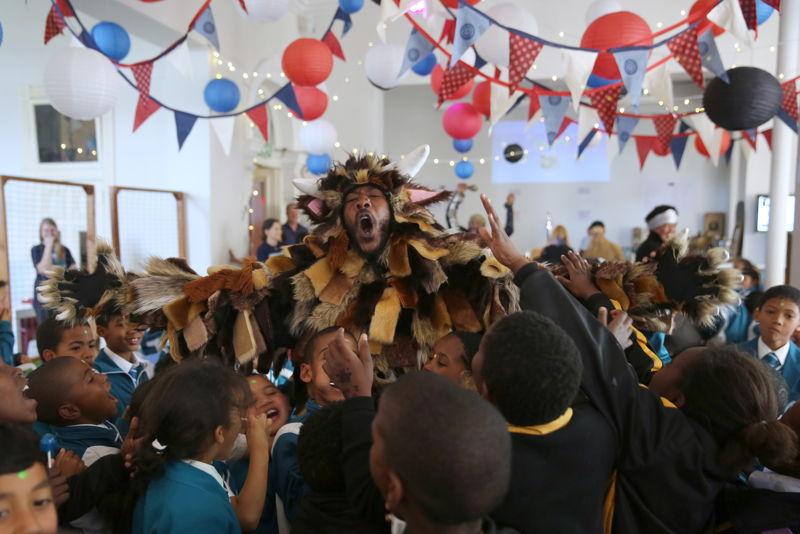 The Gruffalo at the Fringe Club with Ayanda Nondlwana - credit Nardus Engelbrecht Cape Town Fringe 2016