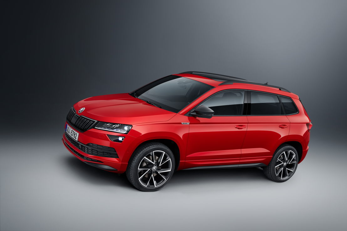 The new sports front spoiler gives the ŠKODA KAROQ SPORTLINE a dynamic appearance.