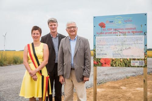 Début de la construction du plus grand parc éolien de Wallonie