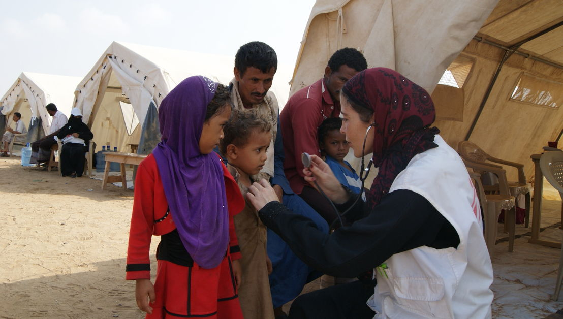 María José 'Quesé' Blanco is a Spanish nurse responsible for the outreach activities of MSF in Abs. She has been working in Yemen since November 2016, in four different locations. These mobile clinics provide out-patient services for internally displaced people and host communities across the district, including regular consultations, emergency referrals, ante-natal care and mental health. Photographer: Gonzalo Martinez. Date photo taken: 05 March, 2017