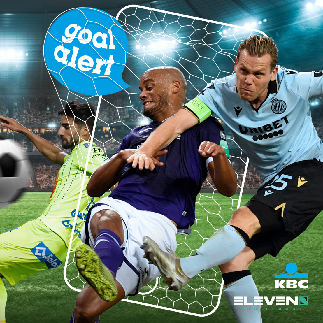 Starting today, Goal Alert in KBC Mobile lets you relive immediately all the key moments from the Jupiler Pro League in near-live time
