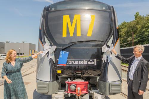 De nieuwe metro M7 is aangekomen in Brussel