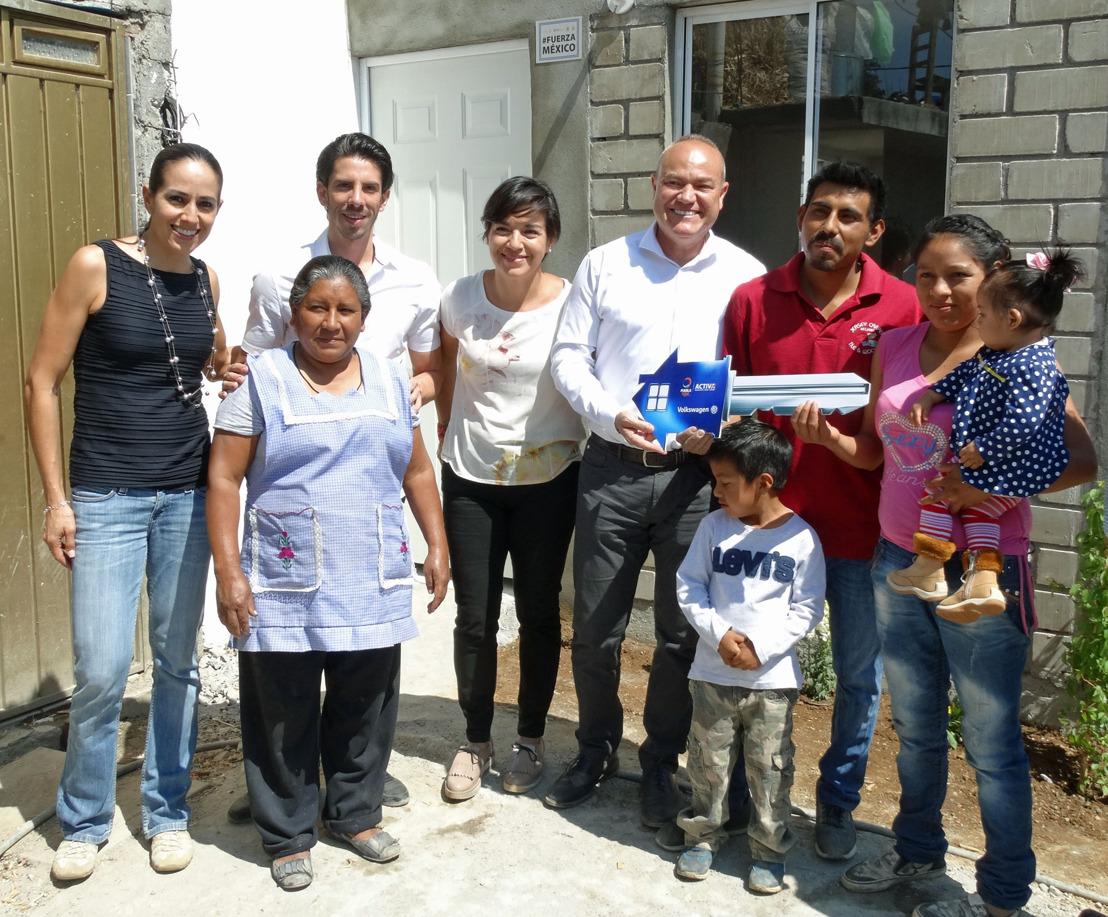 Volkswagen de México reporta un avance del 60% en reconstrucción de viviendas tras el sismo del 19-S