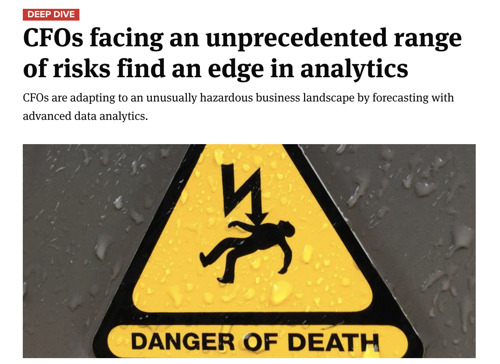 CFOs facing an unprecedented range of risks find an edge in analytics