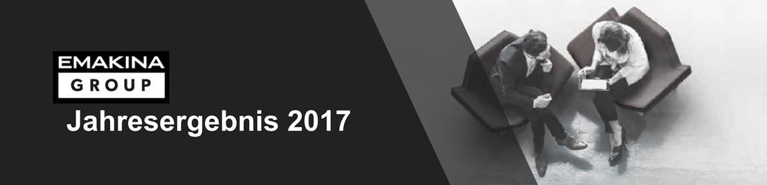 Emakina Group: Jahresergebnis 2017: Internationales Wachstumsbestreben und gute Entwicklung der operationellen Marge
