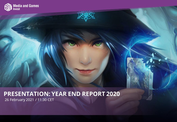 Preview: Media and Games Invest invites investors to the presentation of its Year End Report 2020 today at 11:30 CET