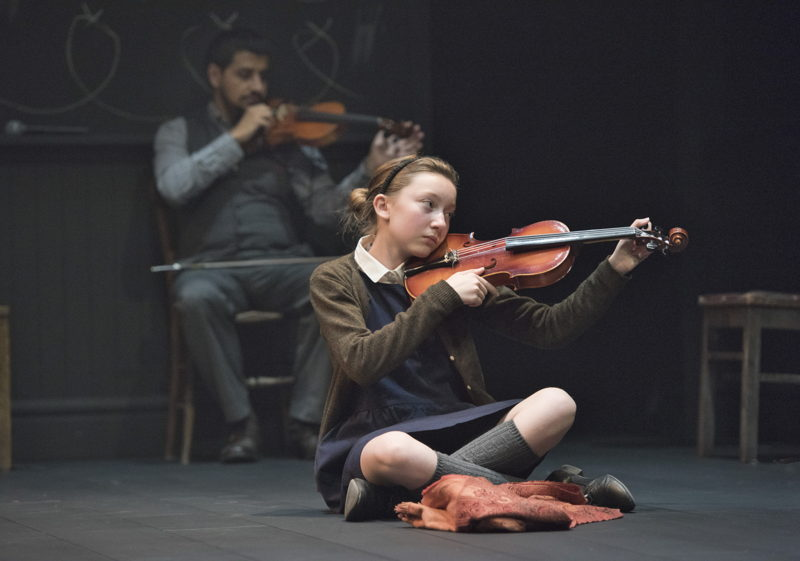 Sophia Irene Coopman (foreground) and Sari Alesh in The Children's Republic by Hannah Moscovitch / Photos by David Cooper