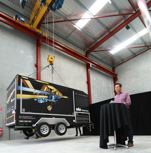 MHE-Demag Revolutionises Customer Experience with the New V-type Crane