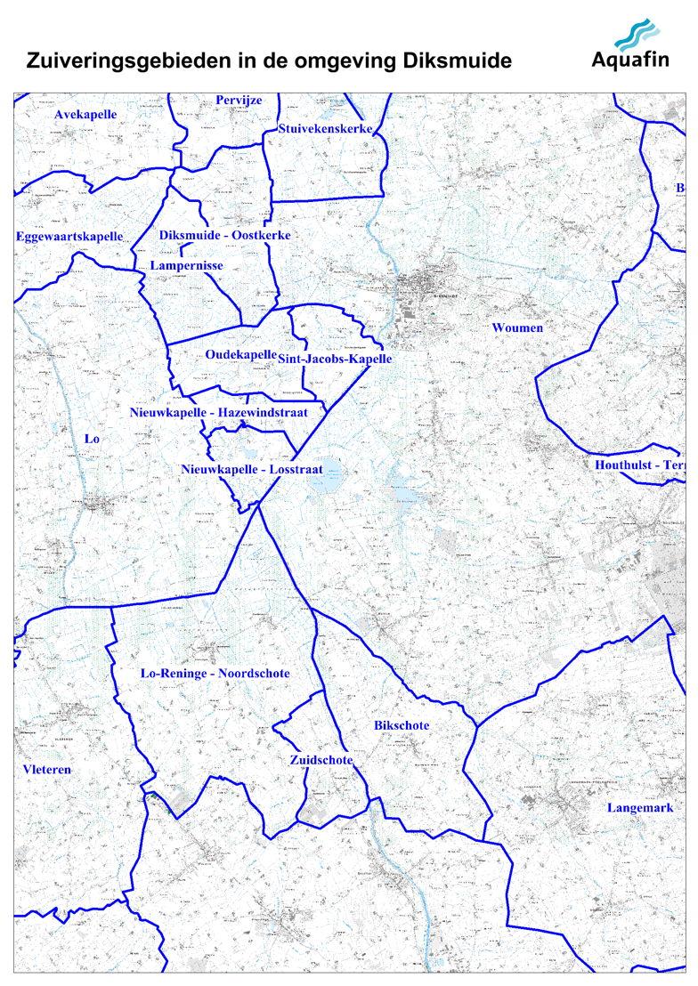 Waar wordt mijn afvalwater gezuiverd: zuiveringsgebieden in de omgeving van Diksmuide