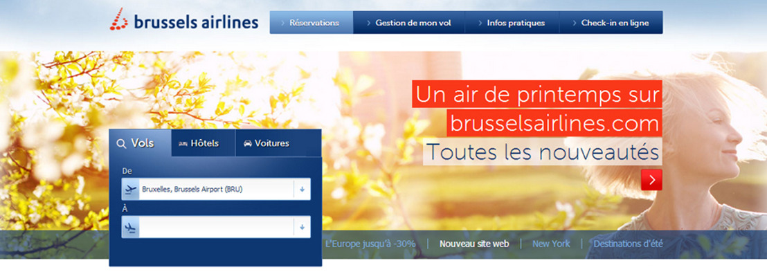 Brussels Airlines dévoile son nouveau site web