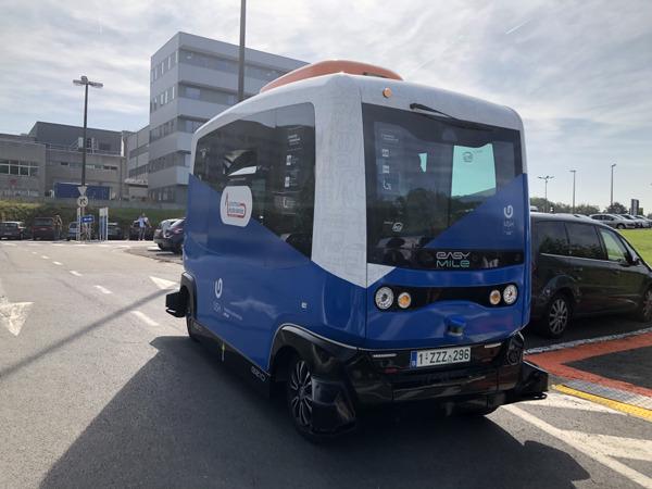 Preview: Lancering zelfrijdende shuttlebus op universiteits- en ziekenhuiscampus in Jette