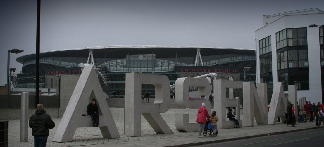 Emiratesstadium Arsenal, London (Flickr Creative Commons - Lloyd Morgan)