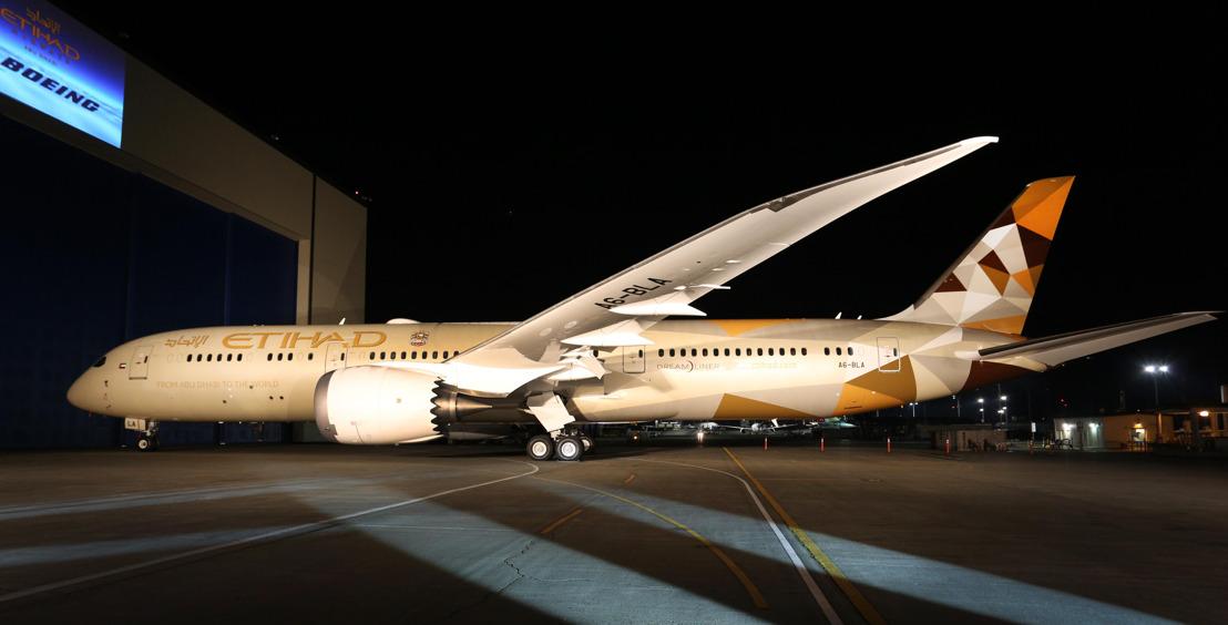Etihad Airways viert komst eerste Boeing 787-9