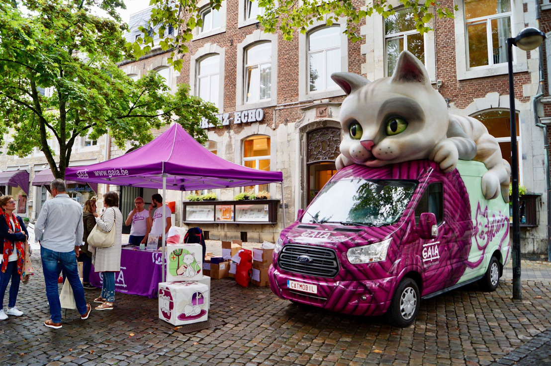 GAIA-Sommertour: Das «Catmobil» sorgte am Freitag in Eupen für Aufsehen