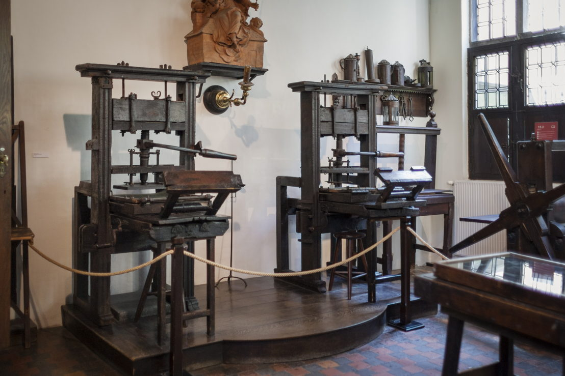 Museum Plantin-Moretus, oldest printing presses of the world, photo: Ans Brys