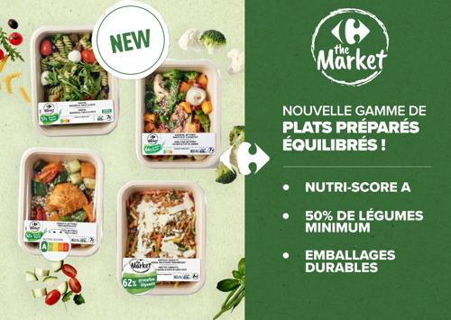 Carrefour lance une toute nouvelle gamme de plats préparés équilibrés