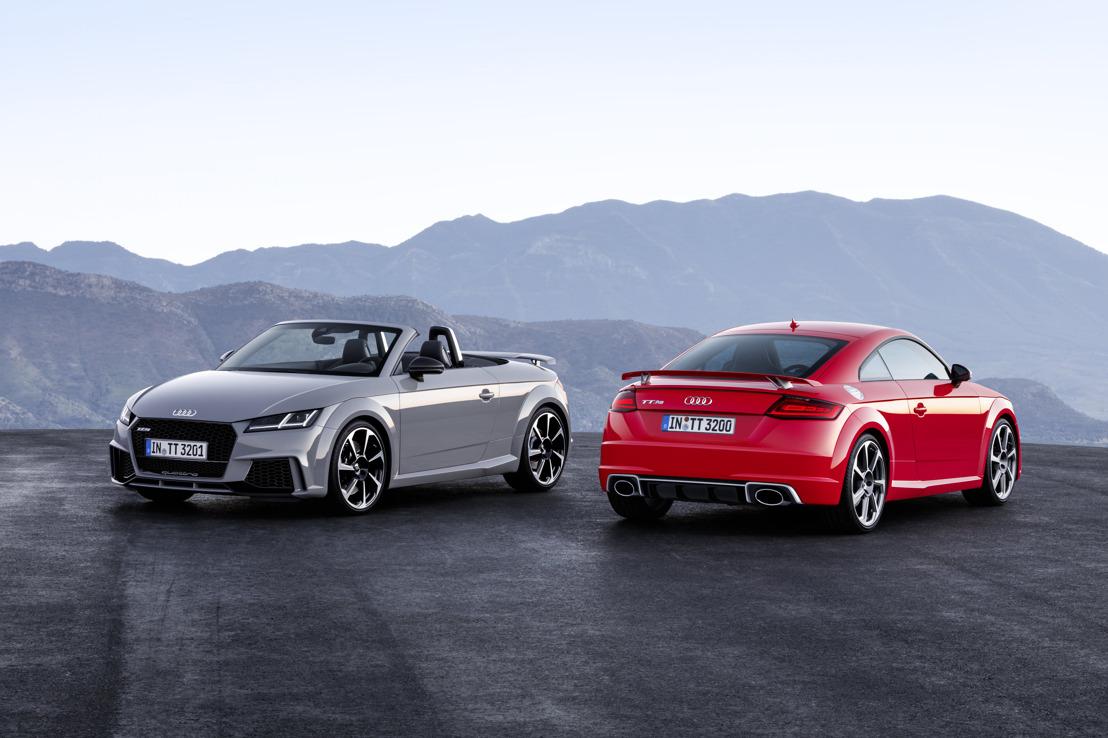 Krachtiger dan ooit: de nieuwe Audi TT RS Coupé en Audi TT RS Roadster