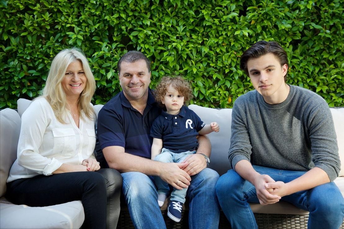 L_R Georgia, wife Ange Postecoglou, with son Max and oldest son James (photo credit: Stavros Sakellaris)