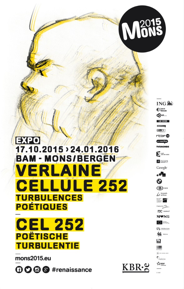 Affiche tentoonstelling 'Verlaine, cel 252'