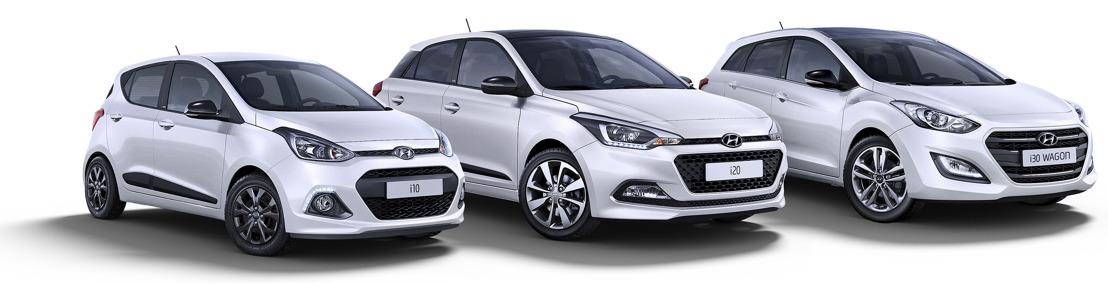 Hyundai lance la série spéciale Blackline pour les i10, i20 et i30.