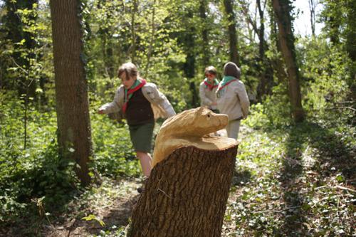 Op bezoek bij de bosgeesten in speelbos Driegoten