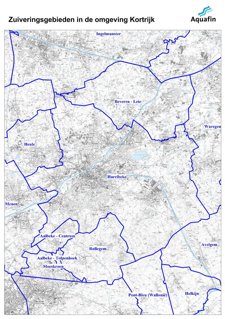 Waar wordt mijn afvalater gezuiverd: zuiveringsgebieden in de buurt van Kortrijk