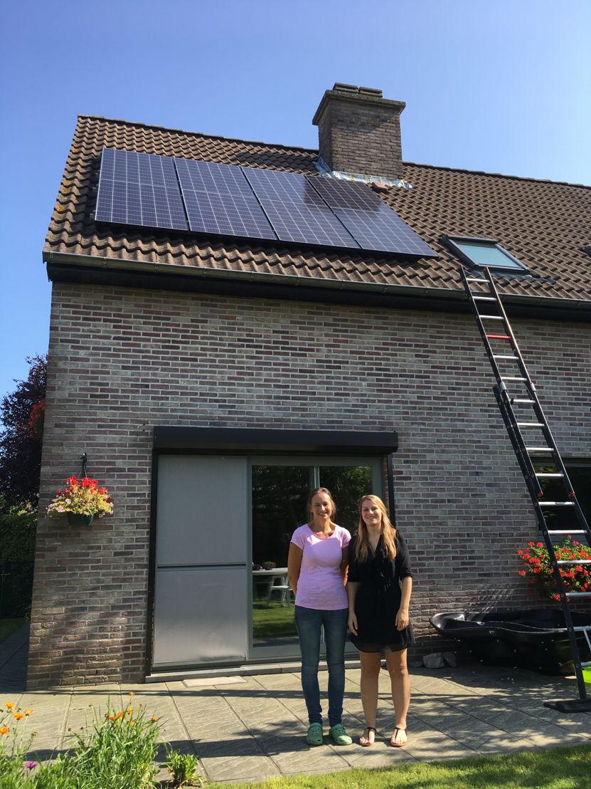 Geplaatste zonnepanelen bij een Vlaams-Brabants gezin
