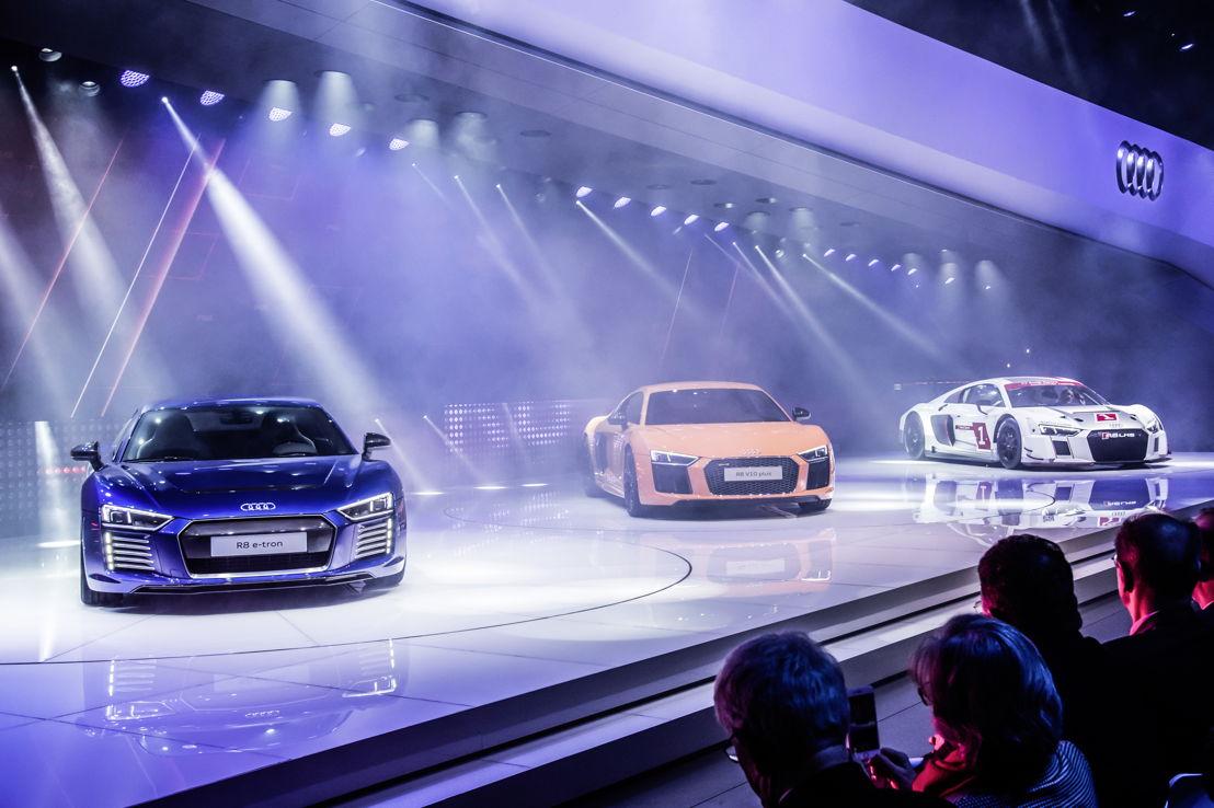 Audi R8 e-tron - Audi R8 V10 plus - Audi R8 LMS