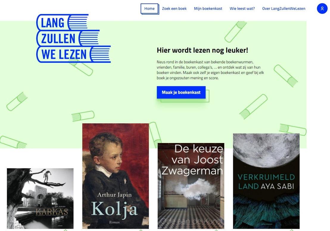 Boekenplatform Langzullenwelezen.be - screenshot