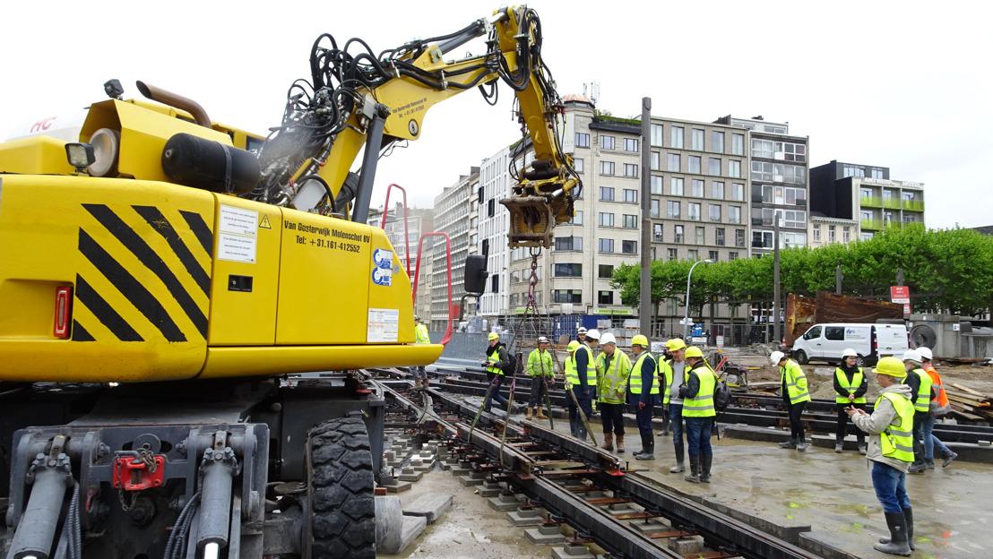 Tramsporen voor vernieuwde Leien zijn klaar