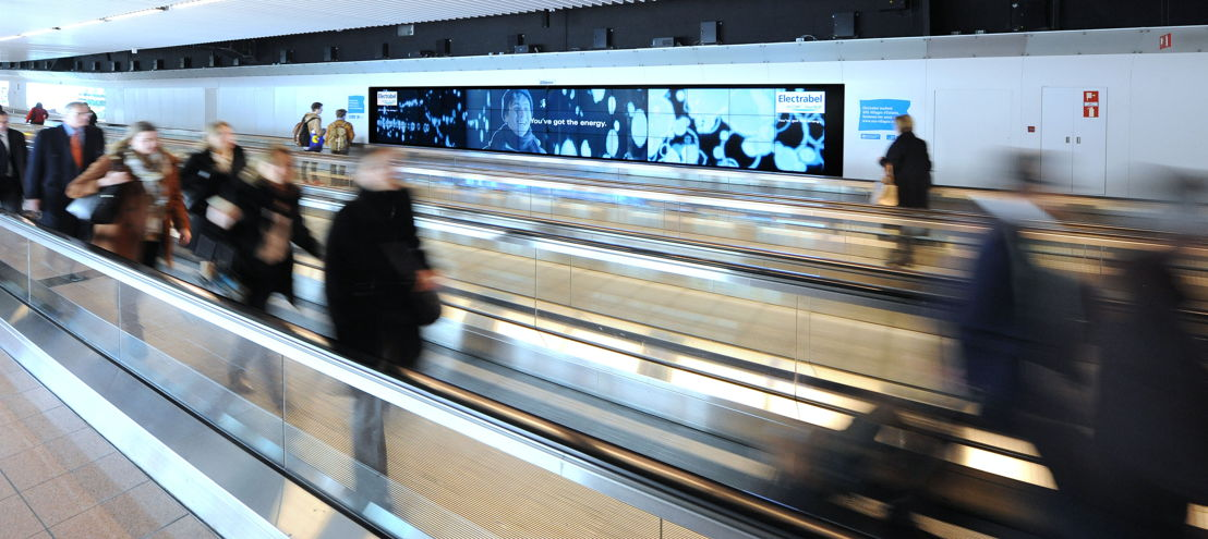 Brussels Airport screen