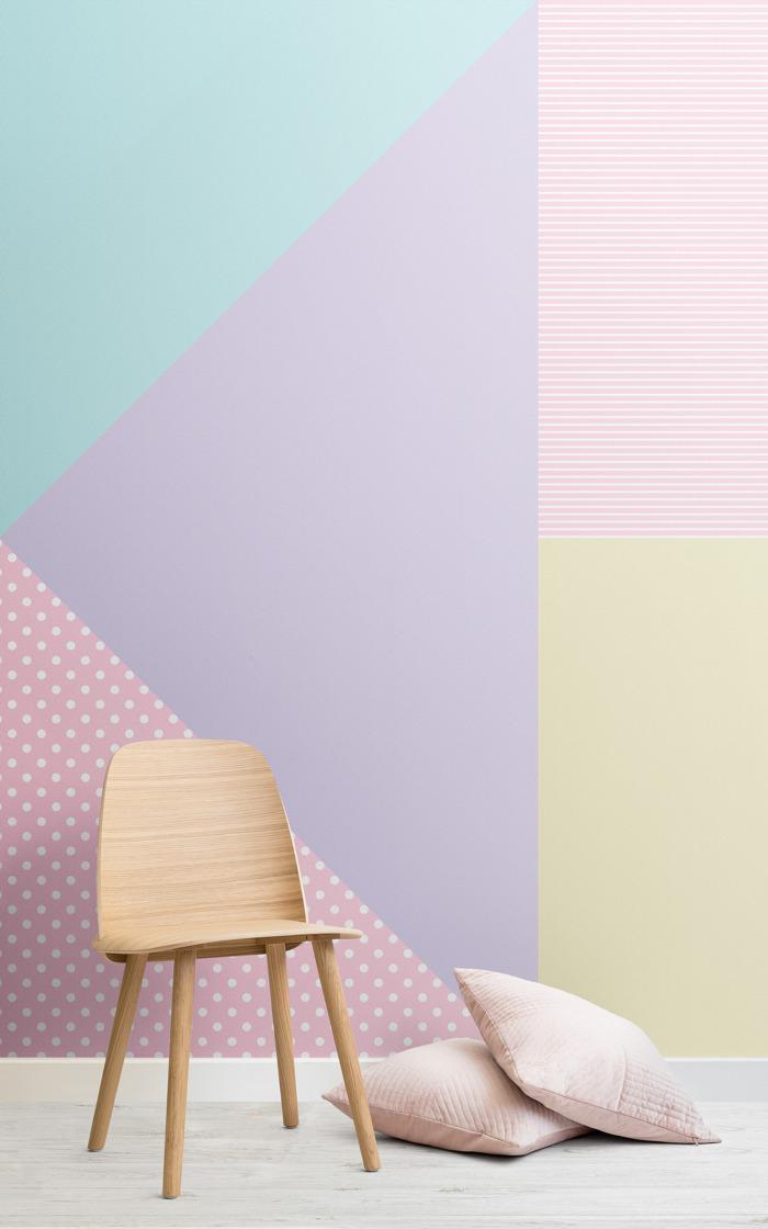Gelato Geometrics: la colección de papeles pintados inspirada en la paleta de colores pasteles más trendy de PE18