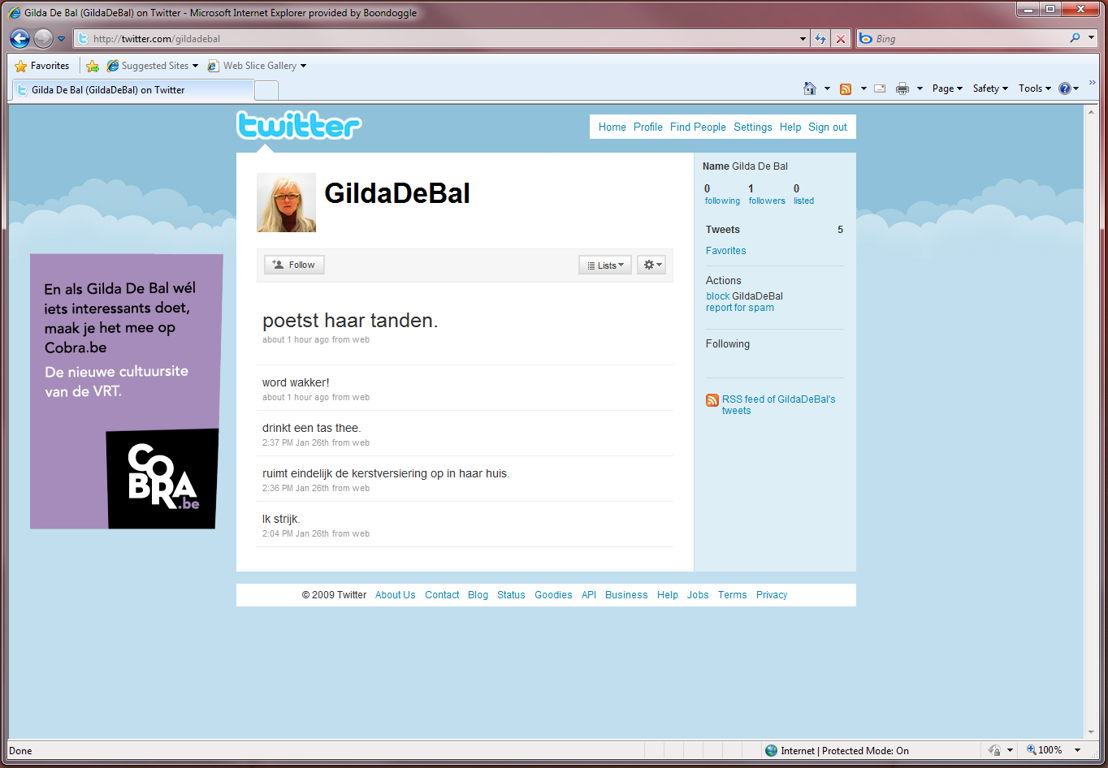 Online - Twitter - Gilda De Bal