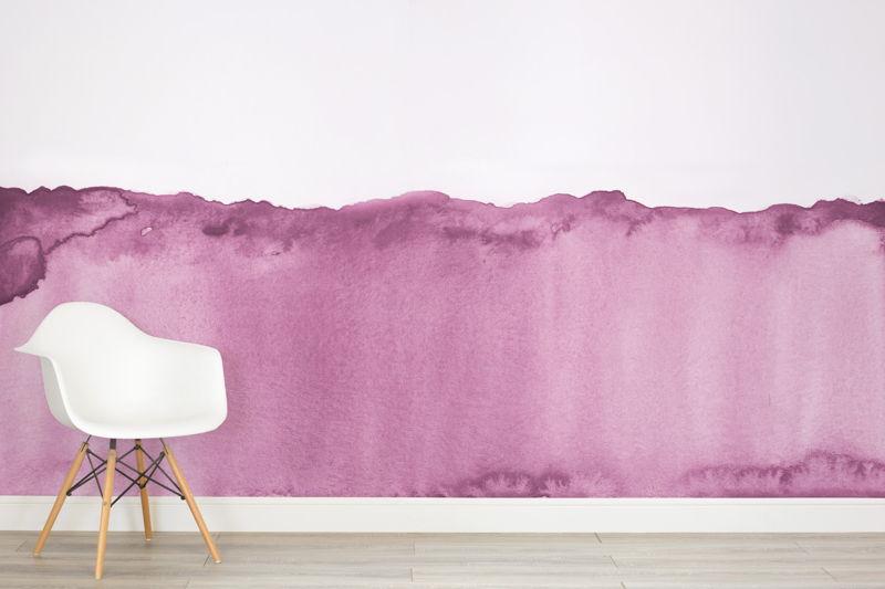 Purple Watercolour Wave