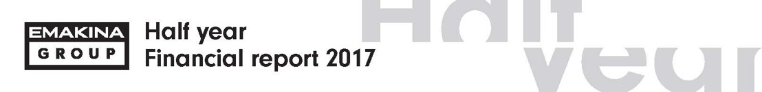 Emakina Group Half-year results 2017: Growth in sales