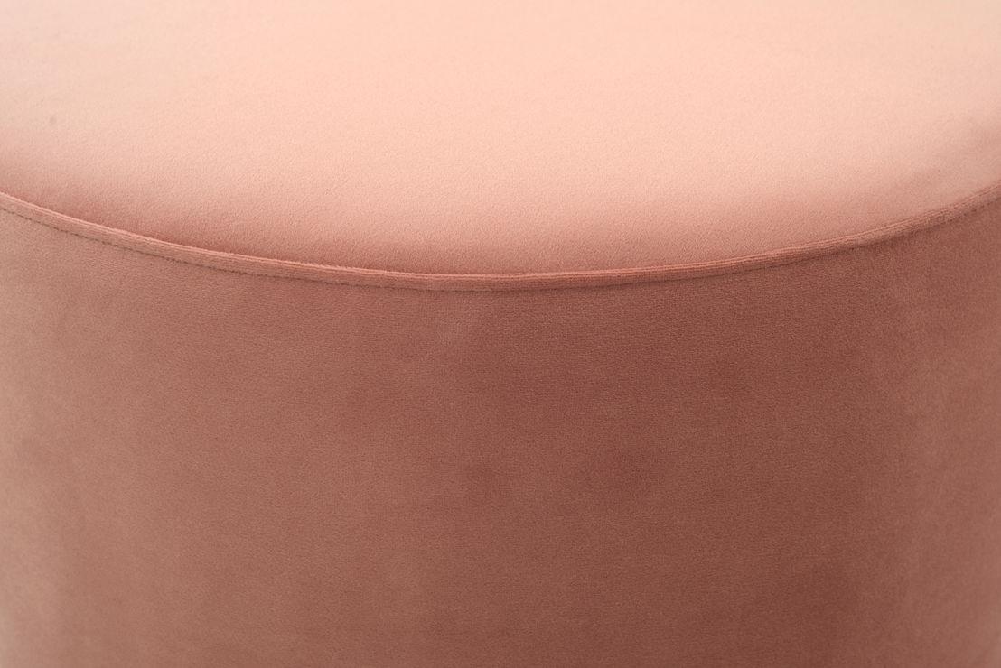 No.9, Footrest, Velour Vintage Rosa