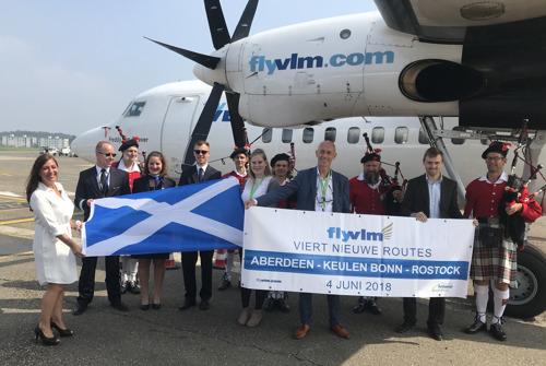 VLM start met vluchten naar Aberdeen, Keulen-Bonn en Rostock