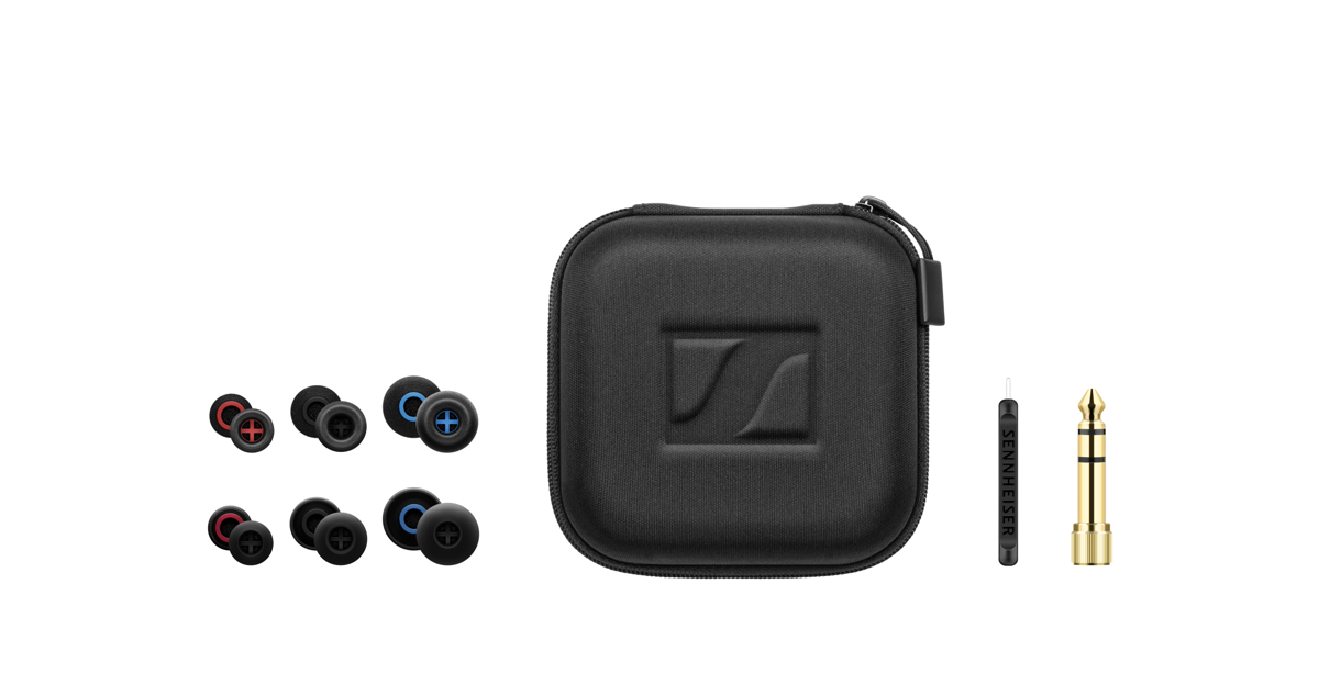 The accessories included with the IE 400 PRO and IE 500 PRO