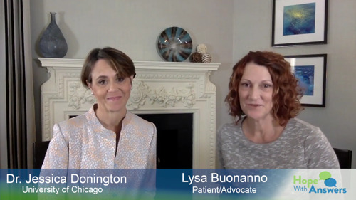 Hope With Answers video podcast by Lung Cancer Foundation of America answers questions for the newly-diagnosed