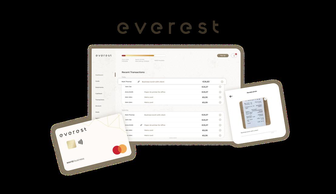 SnapSwap werkt samen met Mastercard voor de lancering van Everest, een online plat-form voor betaal- en kostenbeheer voor bedrijven