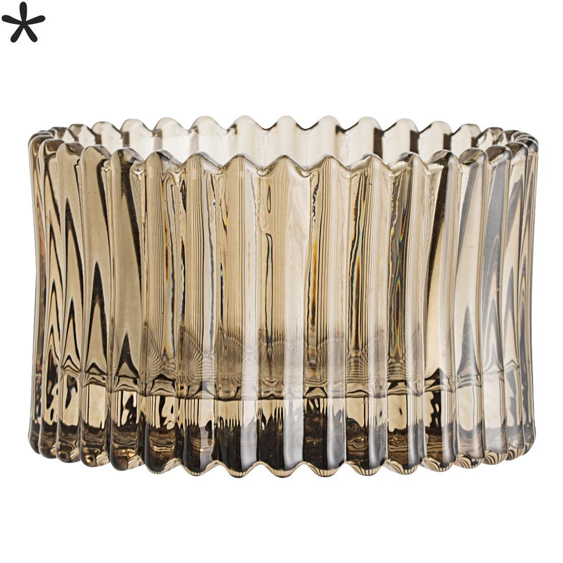 Bloomingville Waxinelichthouder bruin glas - €8,50