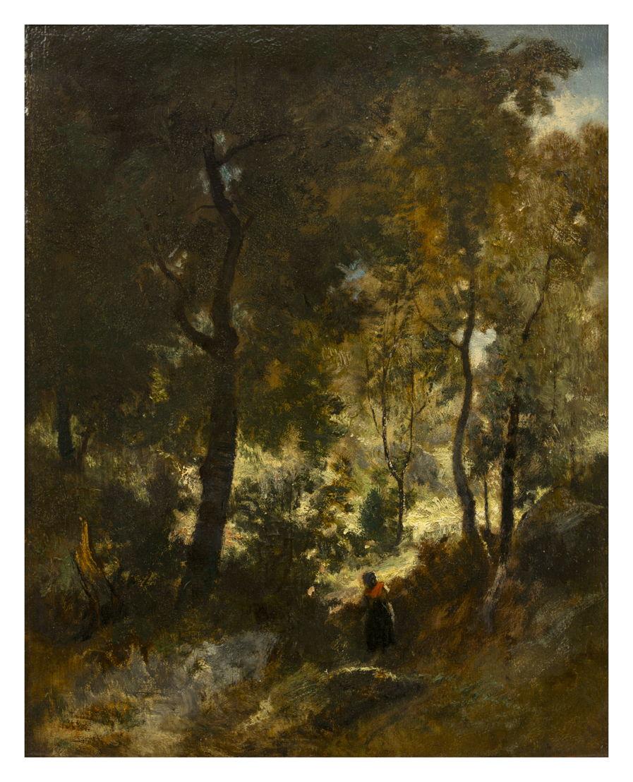 Narcisse Virgile Diaz de la Peña, Paysage de la forêt de Fontainebleau, vzw De Vrienden van de School van Tervuren © Isabelle Arthuis