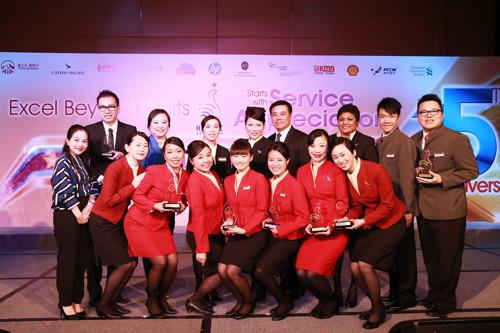 Cathay Pacific wins seven times at Hong Kong Customer Service Excellence Awards