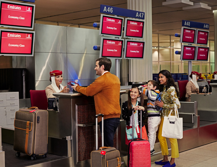 Emirates encourages passengers to arrive 3 hours early to the airport this weekend due to peak end of year travel