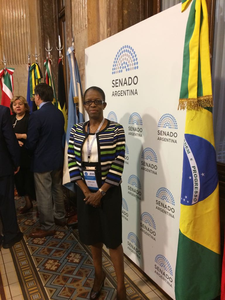 Ms. Beverly Best OECS Commission Head of Development Cooperation and Resource Mobilisation represents at the Argentine Senate