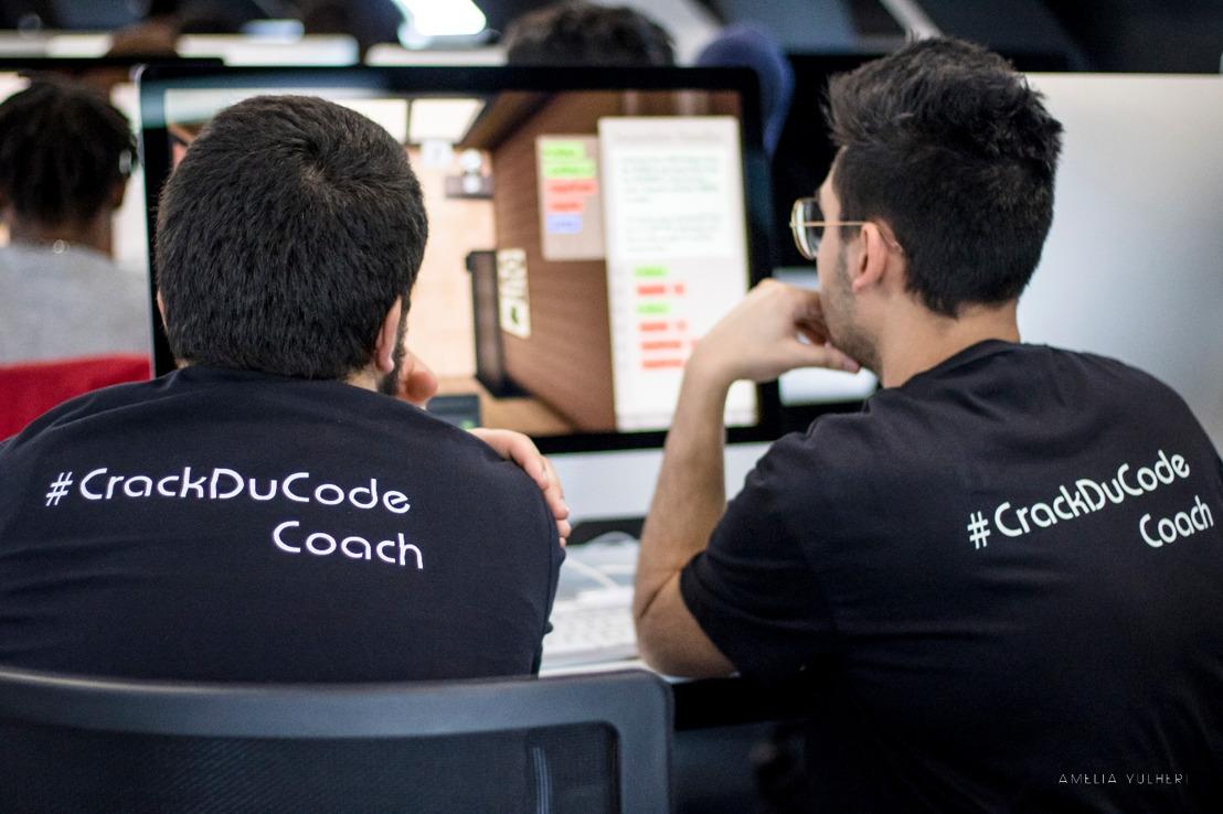60 jeunes chercheurs d'emploi bruxellois ont découvert le codage grâce à un évènement unique organisé par les services publics de l'emploi et de la formation, Molengeek et l'École 19