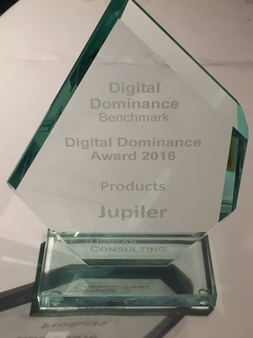 Digital Dominance Award 2016 - Jupiler