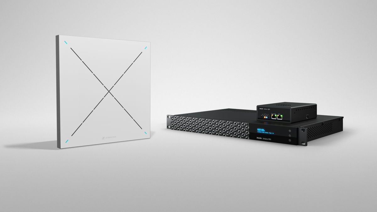 The Xilica-Sennheiser solution pairs the Sennheiser TeamConnect Ceiling 2 beamforming microphone array with Xilica's ecosystem of DSP, user interfaces and network endpoints