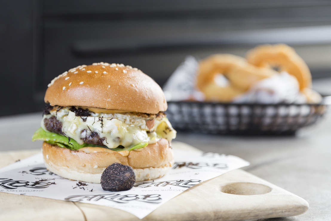 A drive through delicacy: the Angry Pierre Truffle Burger at St Kilda Burger Bar