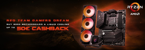 Preview: MSI B550 Cashback Combo Deals 2021: Red Team, Gamer's Dream